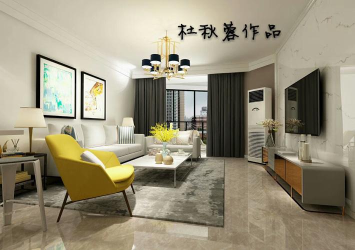 现代 三居图片来自百家装饰LL在金水花城110平现代风格全包11万的分享