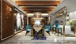 新古典 别墅 跃层 复式 大户型 小资 餐厅图片来自高度国际姚吉智在阳光上东480平米古典高贵典雅的分享