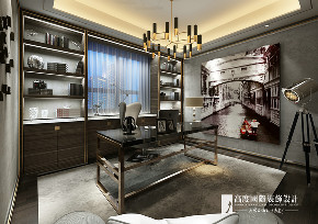 新古典 别墅 跃层 复式 大户型 小资 书房图片来自高度国际姚吉智在阳光上东480平米古典高贵典雅的分享