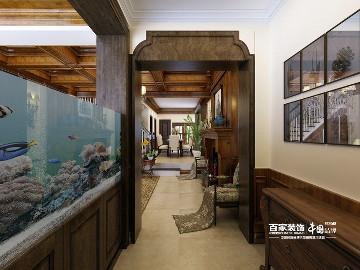 龙湖香醍漫步320平美式古典