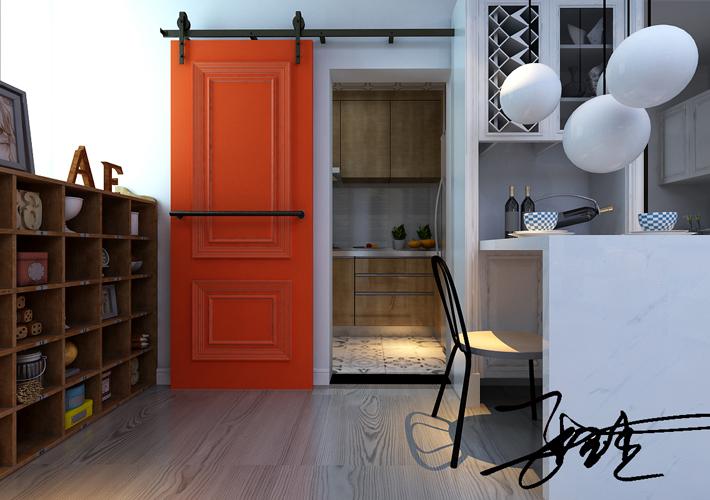 二居 浦江苑 北欧风格 客厅图片来自百家设计小刘在浦江苑御景湾82平北欧风格的分享