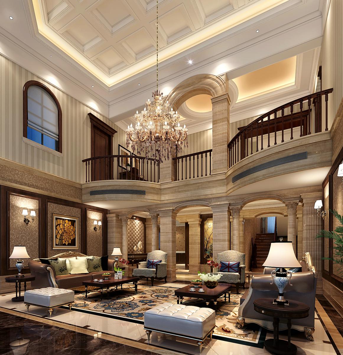 爱法奥朗 别墅装修 欧式古典 腾龙设计 客厅图片来自腾龙设计在爱法奥朗新庄园别墅欧美风格设计的分享