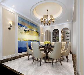 美式 别墅 朱平波 收纳 餐厅图片来自朱平波在逸源香舍——多芬的分享