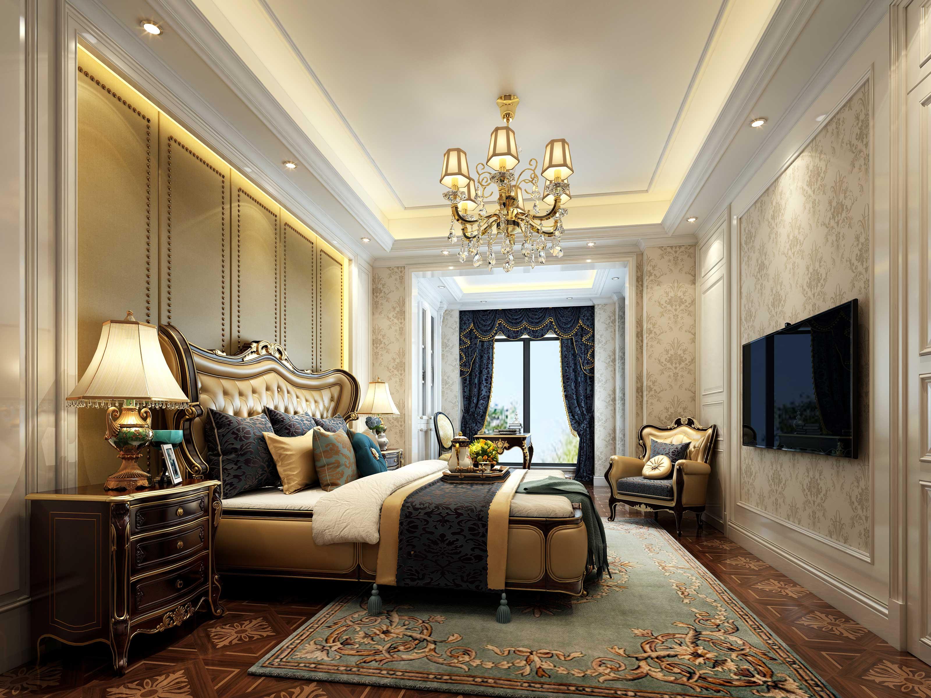 欧式 别墅 收纳 朱平波 卧室图片来自朱平波在长滩壹号——未央的分享
