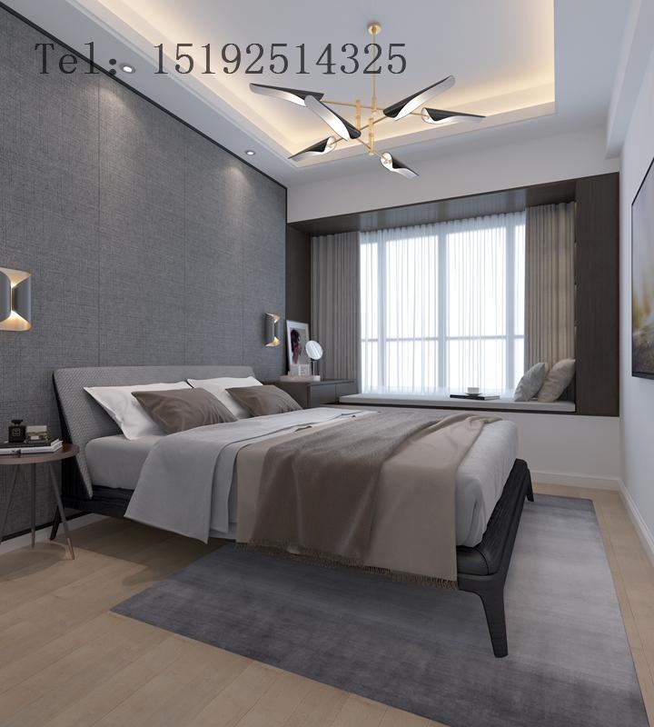 二居 龙樾湾 简约 卧室图片来自快乐彩在北京城建龙樾湾89平简约设计的分享