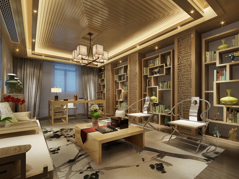 枫丹白露别 别墅装修 欧美风格 腾龙设计 书房图片来自孔继民在枫丹白露别墅项目装修美式风格的分享