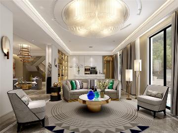 安亭高尔夫别墅装修现代风格设计