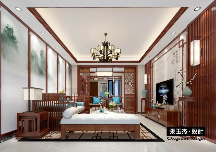 三居 钓鱼台七号 中式风格 客厅图片来自百家设计小刘在钓鱼台七号146平中式风格的分享