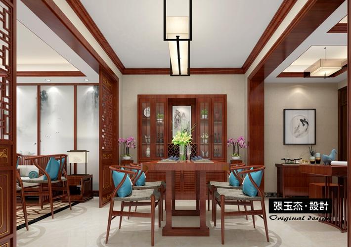 三居 钓鱼台七号 中式风格 餐厅图片来自百家设计小刘在钓鱼台七号146平中式风格的分享
