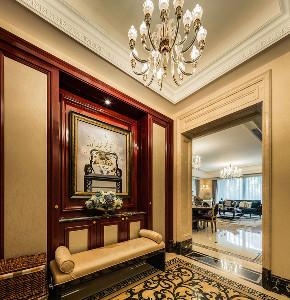 欧式 别墅 跃层 复式 大户型 80后 小资 玄关图片来自高度国际姚吉智在350平米欧式别墅尽显大气质感的分享