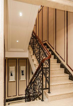 欧式 别墅 跃层 复式 大户型 80后 小资 楼梯图片来自高度国际姚吉智在350平米欧式别墅尽显大气质感的分享
