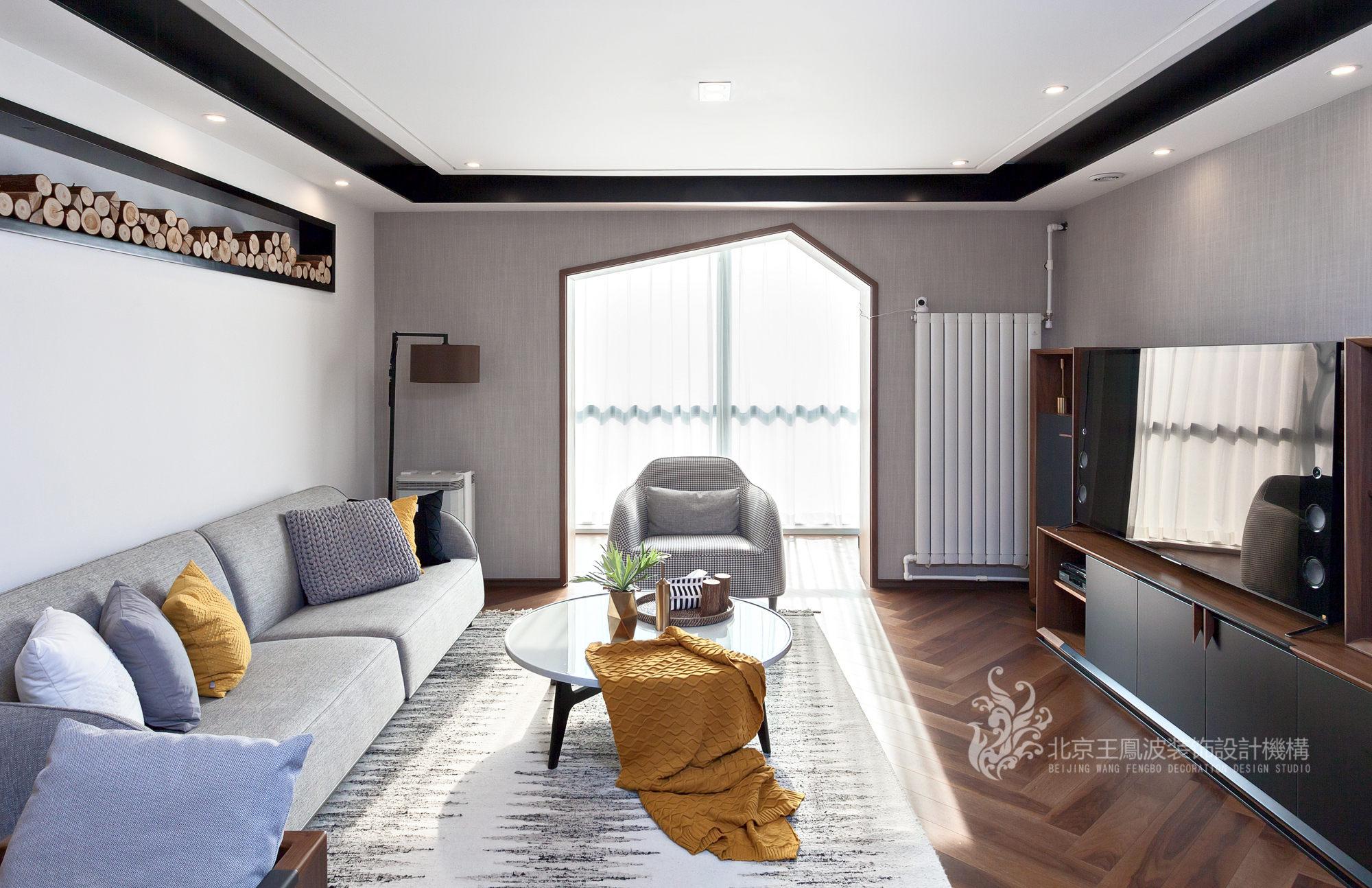简约 三居 客厅图片来自爱窝窝精致家装机构在素木简约的家的分享