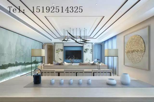 四居 晓港名城 新中式 青岛 实创 大户型 客厅图片来自快乐彩在大平层晓港名城237平的分享