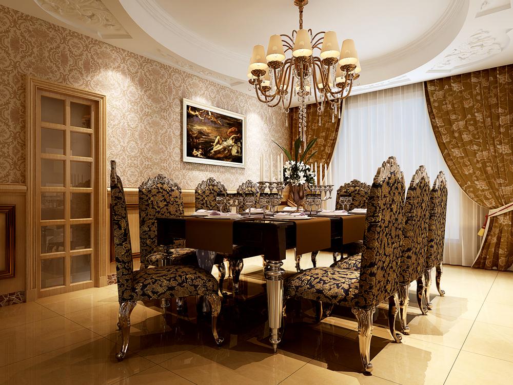 保利叶上海 别墅装修 欧式古典 腾龙设计 餐厅图片来自孔继民在保利叶上海别墅装修欧式古典风格的分享