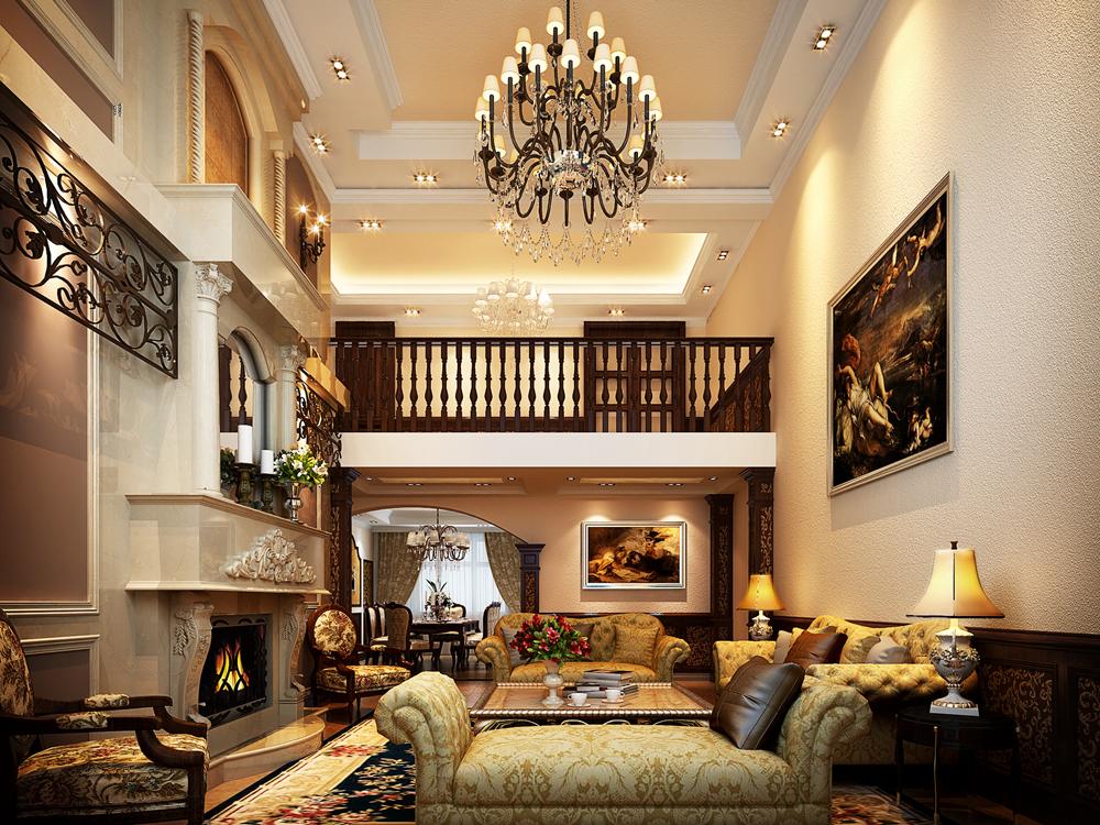 保利叶上海 别墅装修 欧式古典 腾龙设计 客厅图片来自孔继民在保利叶上海别墅装修欧式古典风格的分享