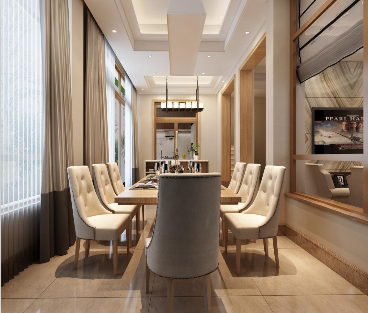 华贸东滩 东滩花园 别墅装修 现代简约 腾龙设计 餐厅图片来自孔继民在华贸东滩花园别墅装修现代风格的分享