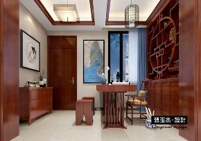 中式 三居 书房图片来自百家装饰LL在钓鱼台七号146平中式风格的分享