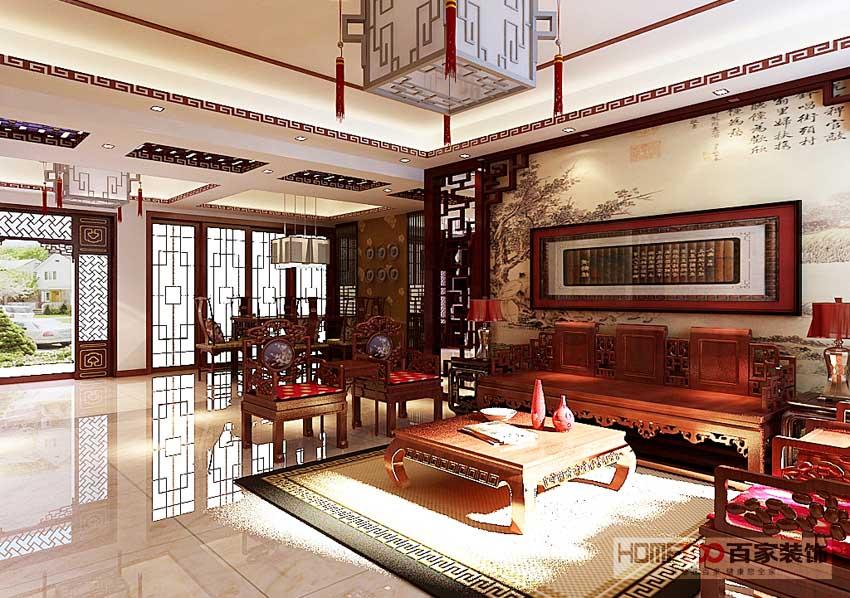 客厅图片来自百家装饰LL在保利海上五月花 165平中式风格的分享