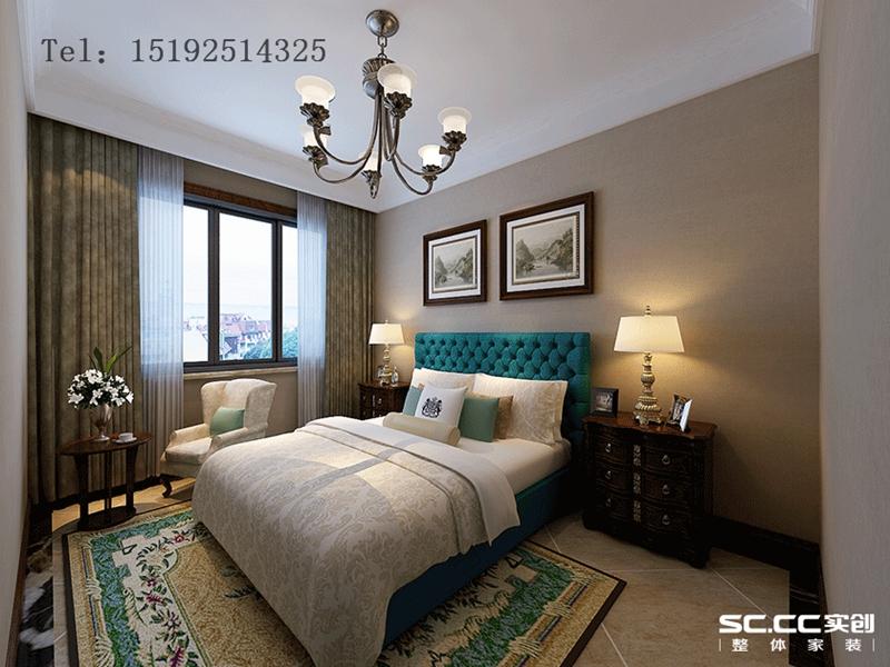 美式 青岛 实创 别墅 卧室图片来自快乐彩在和达玺悦275平联排美式的分享