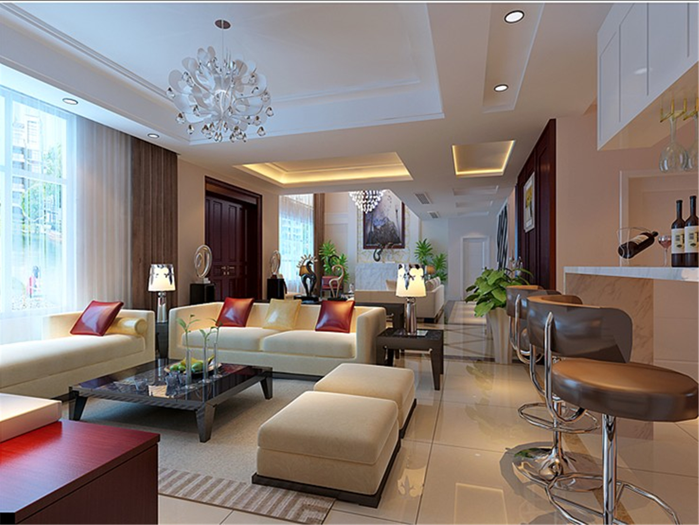 上海蓝堡 蓝堡别墅 现代风格 腾龙设计 客厅图片来自孔继民在上海蓝堡别墅项目装修设计方案的分享
