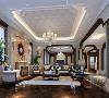 欧泊圣堡别墅项目装修欧式风格设计,上海腾龙别墅设计师丰晓作品,欢迎品鉴