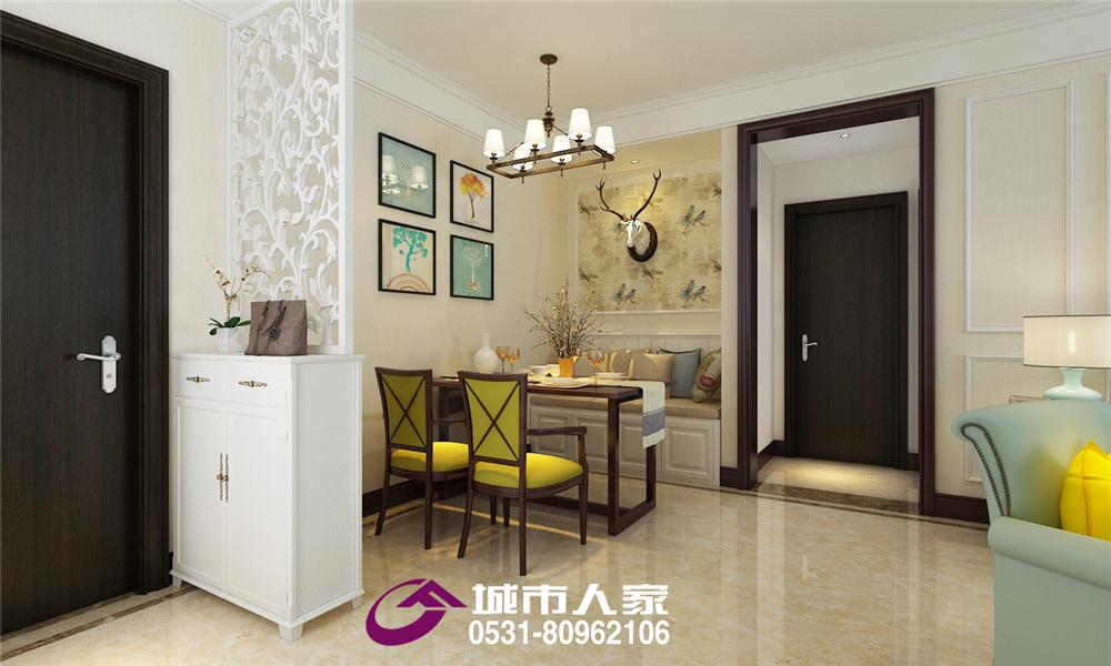 简约 锦绣兰庭 餐厅图片来自济南城市人家装修公司-在中建锦绣兰庭装修案例现代美式风的分享
