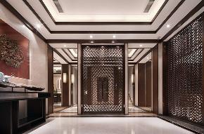 中式 别墅 跃层 复式 大户型 玄关图片来自高度国际姚吉智在500平米新中式品味优雅本色的分享