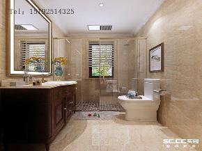 别墅 美式 实创 明德小镇 青岛 装修 白领 卫生间图片来自快乐彩在明德小镇192平美式联排别墅装修的分享