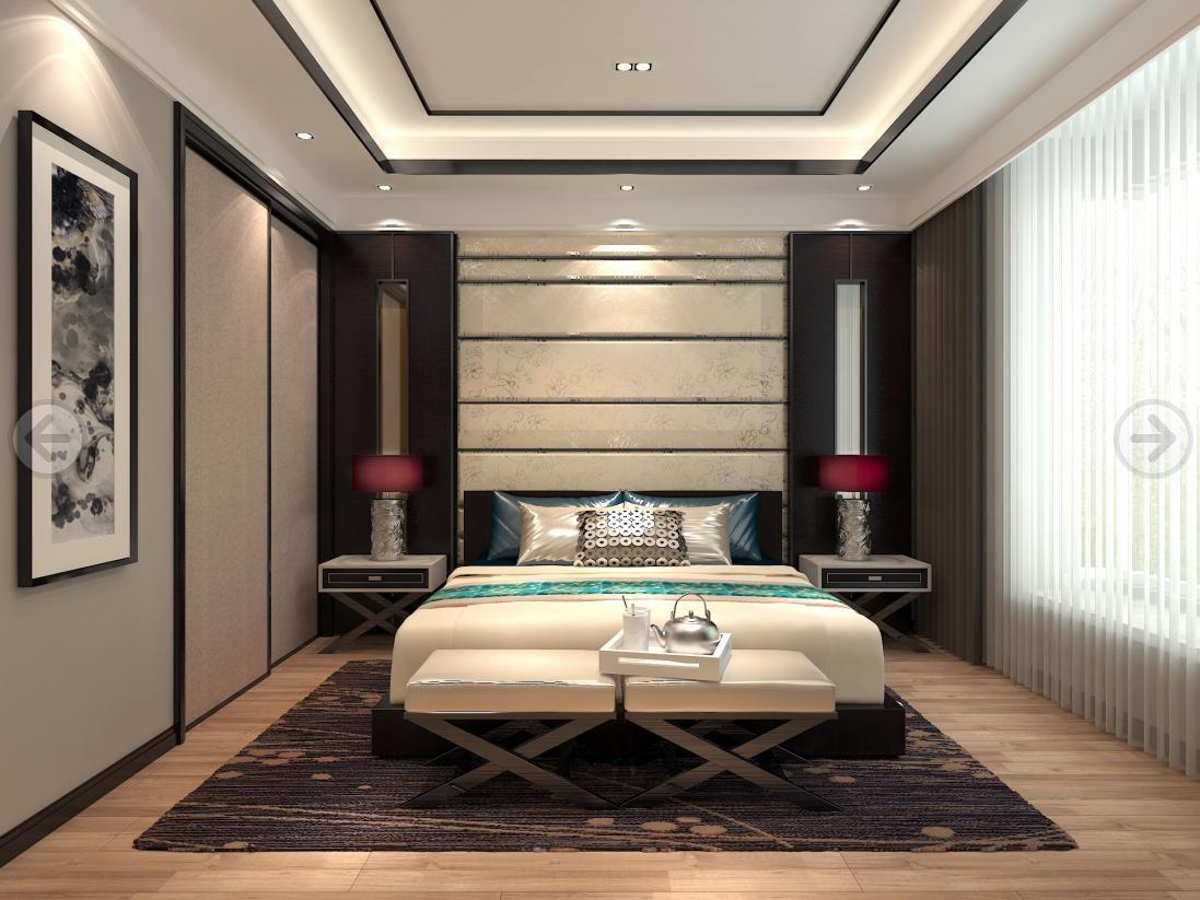 绿中海名苑 别墅装修 现代风格 腾龙设计 卧室图片来自孔继民在绿中海名苑别墅装修现代风格设计的分享