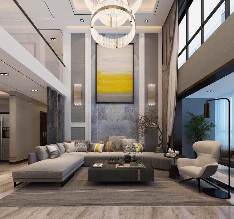 简约 现代风格 复式装修 西安装修 装修公司 客厅图片来自西安城市人家装饰王凯在秦汉佳苑320平现代风格装修的分享