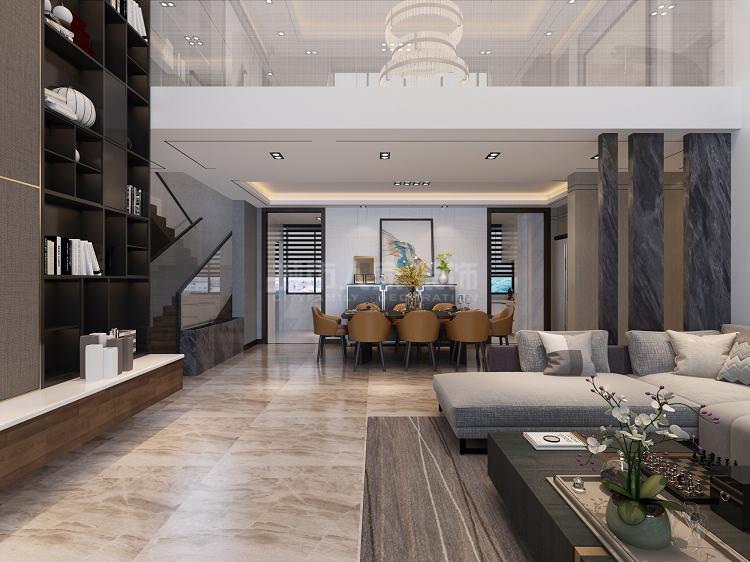 简约 现代风格 复式装修 西安装修 装修公司 餐厅图片来自西安城市人家装饰王凯在秦汉佳苑320平现代风格装修的分享
