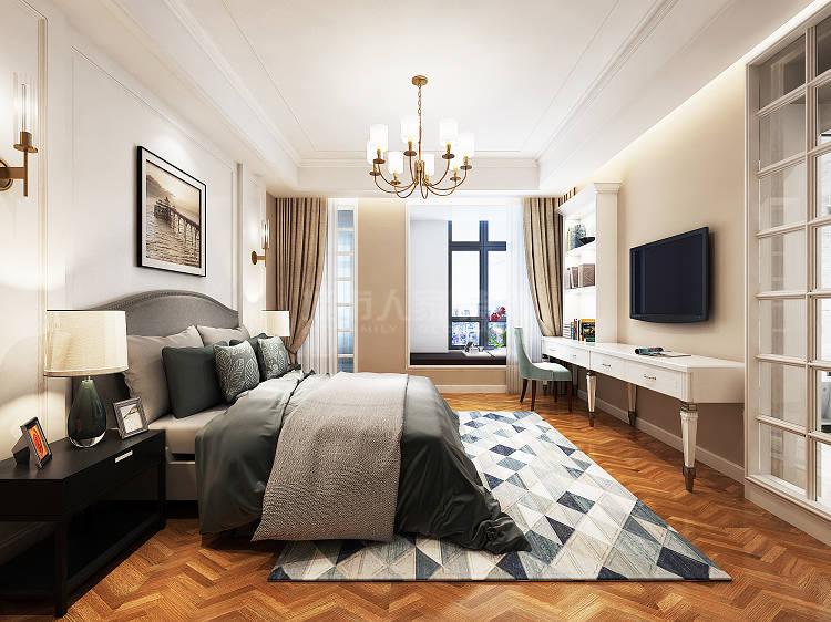 简约 现代 四居 西安装修 大户型装修 卧室图片来自西安城市人家装饰王凯在时尚魅惑,215平现代风格4居室的分享