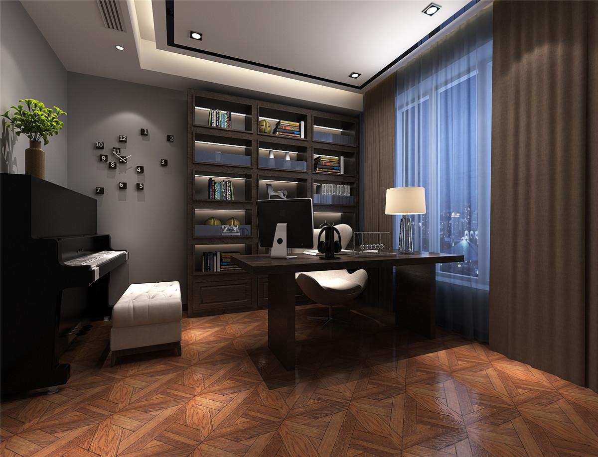 尚汇豪庭 三房装修 现代风格 腾龙设计 章伟作品 书房图片来自孔继民在尚汇豪庭现代风格设计方案展示的分享