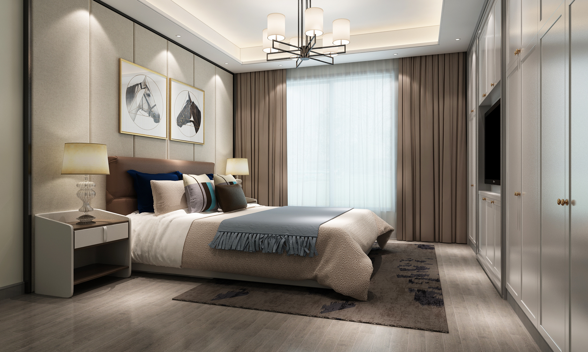 上海院子 别墅装修 现代风格 腾龙设计 卧室图片来自孔继民在上海院子别墅装修现代风格设计的分享