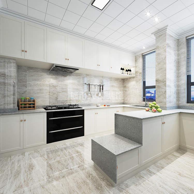 简约 现代 四居 西安装修 大户型装修 厨房图片来自西安城市人家装饰王凯在时尚魅惑,215平现代风格4居室的分享
