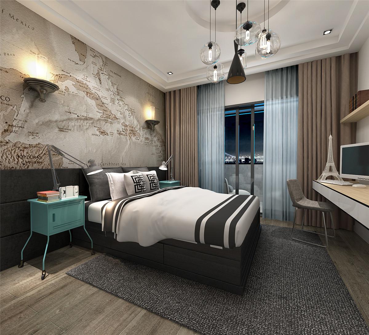 尚汇豪庭 三房装修 现代风格 腾龙设计 章伟作品 卧室图片来自孔继民在尚汇豪庭现代风格设计方案展示的分享