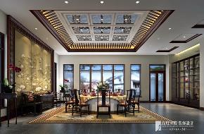 中式 别墅 跃层 复式 大户型 80后 小资 餐厅图片来自高度国际姚吉智在领秀翡翠山280㎡新中式徽风皖韵的分享