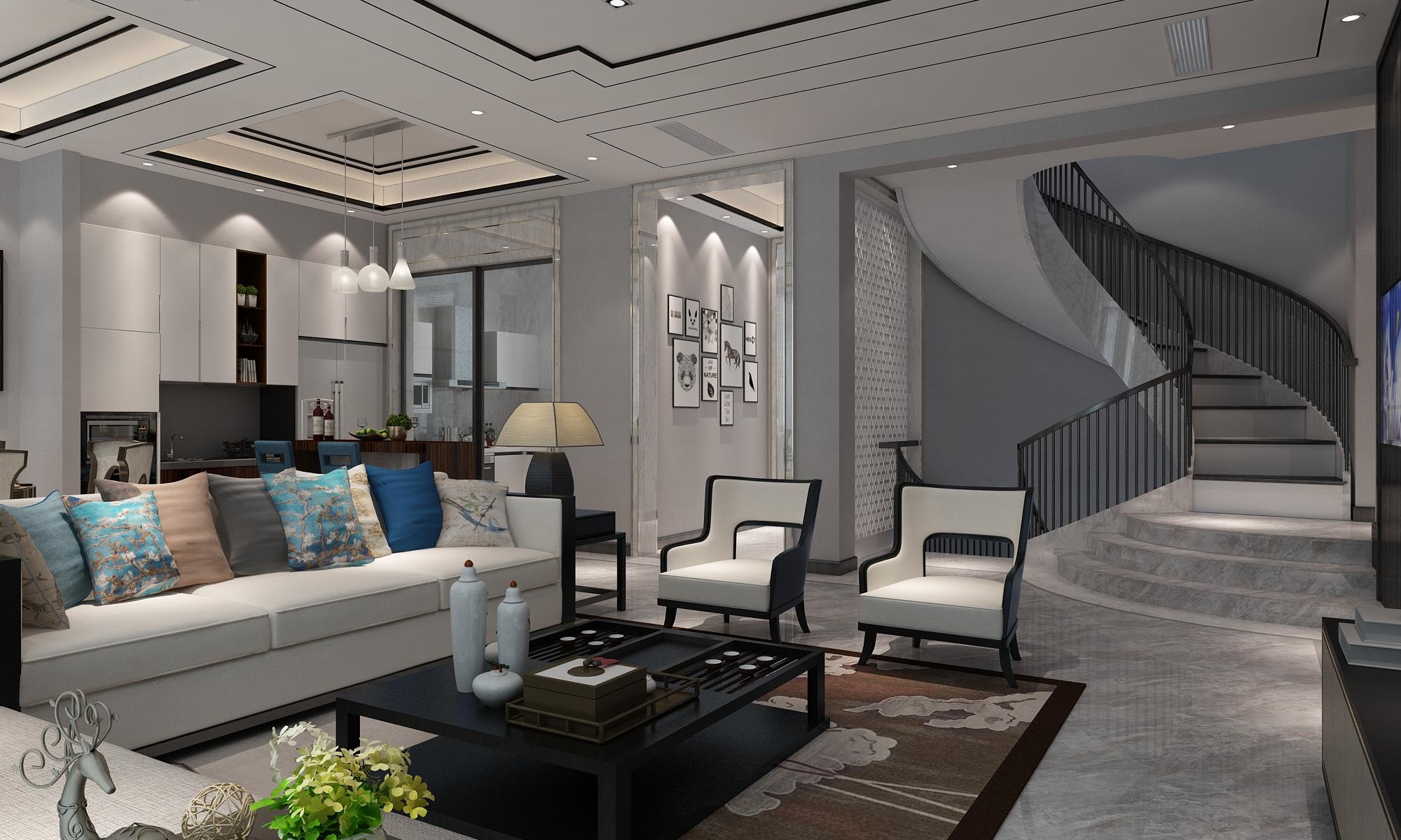上海院子 别墅装修 现代风格 腾龙设计 客厅图片来自孔继民在上海院子别墅装修现代风格设计的分享