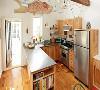 家里是简约风、工业风的话,不锈钢台面都是不错的选择。不锈钢台面号称最易清理的台面,除了它耐火耐高温易清洁,还因为它抗菌;而且不锈钢和人造石一样都可以做成无缝一体设计。