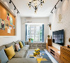 深灰色皮质转角沙发,搭配黑胡桃电视柜赋予空间大自然朴实的气息! 舒适、干净、素雅、温和,软装色彩搭配是重点