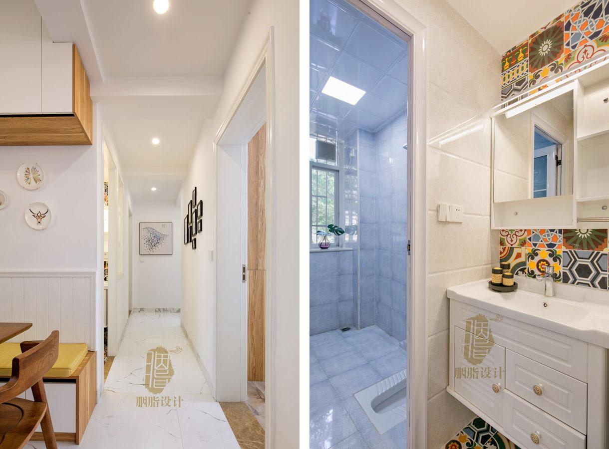 旧房改造 四房 胭脂设计 北欧 卫生间图片来自设计师胭脂在回到梦中的童年的分享