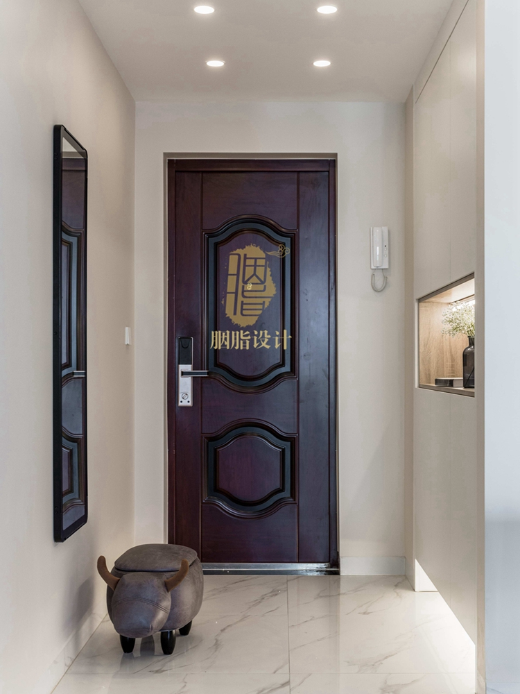 简约 三居 旧房改造 现代 胭脂设计 装修设计 玄关图片来自设计师胭脂在米米のSuper Show的分享