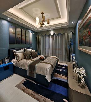 新古典 别墅 跃层 复式 大户型 80后 小资 卧室图片来自高度国际姚吉智在317平米古典别墅走心的设计的分享
