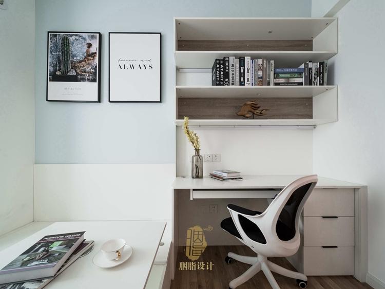 简约 三居 旧房改造 现代 胭脂设计 装修设计 书房图片来自设计师胭脂在米米のSuper Show的分享