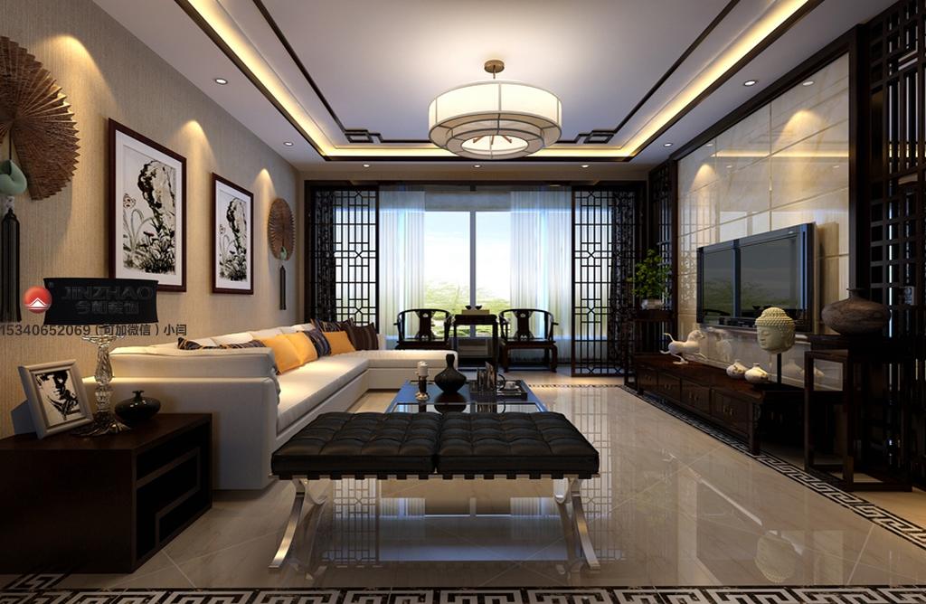 客厅图片来自装家美在阳光汾河湾148平米中式风格的分享