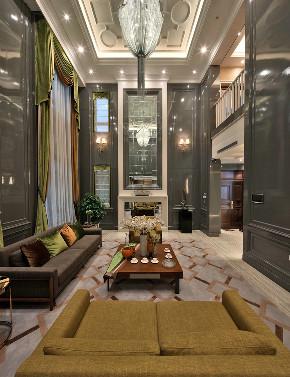 新古典 别墅 跃层 复式 大户型 80后 小资 客厅图片来自高度国际姚吉智在317平米古典别墅走心的设计的分享