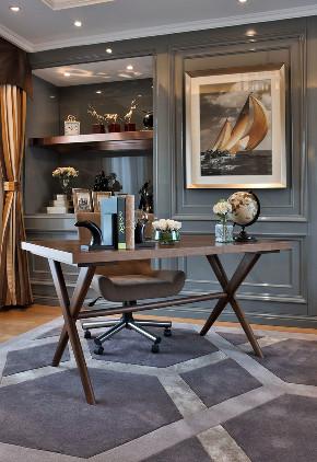 新古典 别墅 跃层 复式 大户型 80后 小资 书房图片来自高度国际姚吉智在317平米古典别墅走心的设计的分享