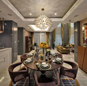 新古典 别墅 跃层 复式 大户型 80后 小资 餐厅图片来自高度国际姚吉智在317平米古典别墅走心的设计的分享