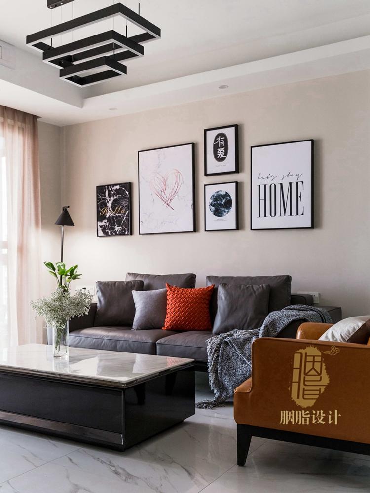 简约 三居 旧房改造 现代 胭脂设计 装修设计 客厅图片来自设计师胭脂在米米のSuper Show的分享