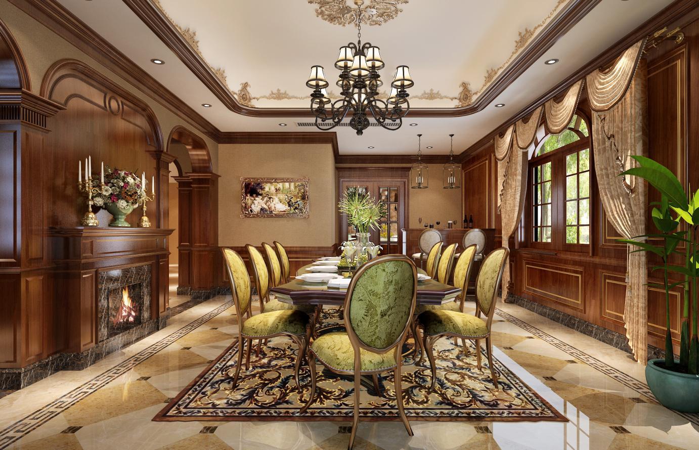 枫丹白露 别墅装修 美式古典 腾龙设计 餐厅图片来自孔继民在枫丹白露别墅装修美式风格设计的分享